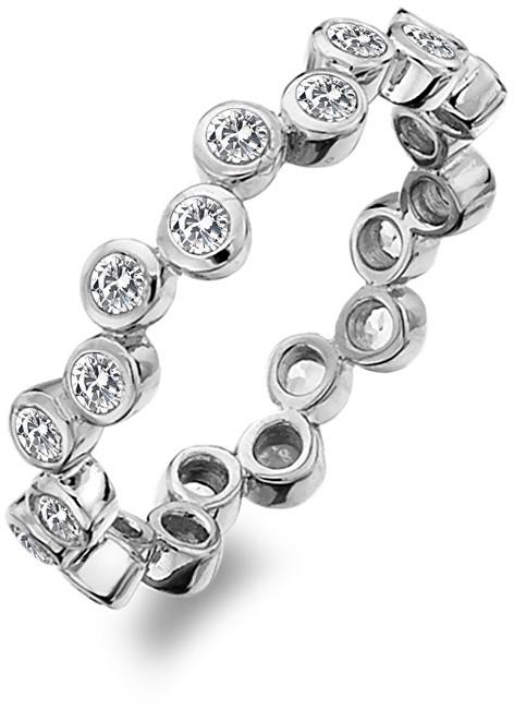 Hot Diamonds Luxusní stříbrný prsten s topazy Willow DR208 51 mm