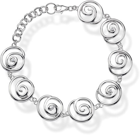 Hot Diamonds Náramek Eternity Spiral DL246