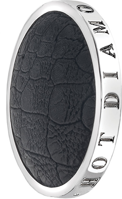Hot Diamonds Prívesok Emozioni Faux Crocodile Black EC080-090 33 mm