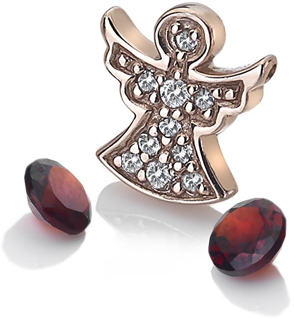 Hot Diamonds Bronzový element andělíček s granáty Anais AC105