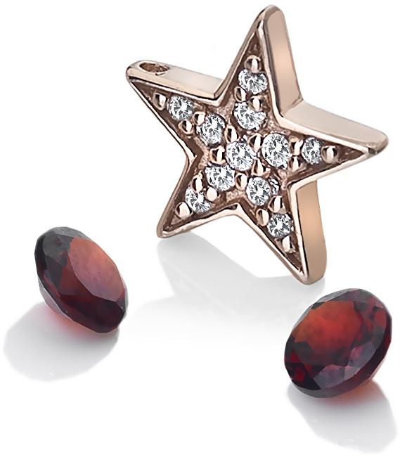 Hot Diamonds Hvězdičkový element s granáty Anais AC111
