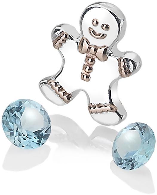Hot Diamonds Stříbrný element perníček s modrými topazy Anais AC106