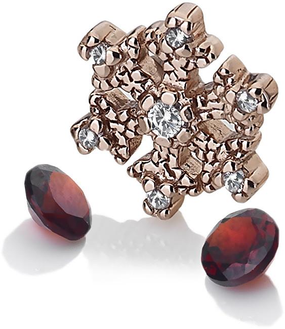 Hot Diamonds Element sněhová vločka s granáty Anais AC109