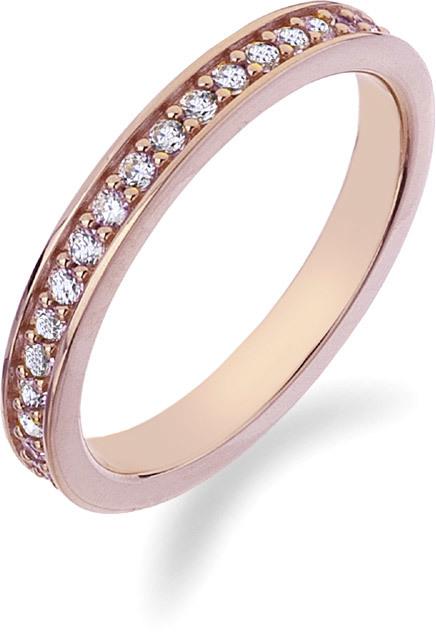 Hot Diamonds Prsteň Emozioni Infinito Rose Gold ER008 51 mm
