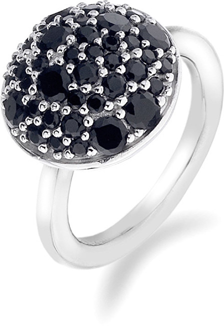Hot Diamonds Prsteň Emozioni Laghetto Bouquet Black ER010 51 mm