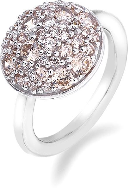 Hot Diamonds Prsteň Emozioni Laghetto Bouquet Champagne ER009 51 mm