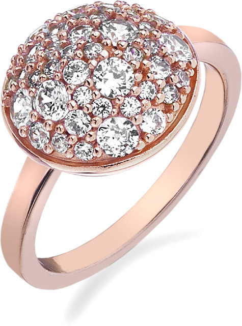 Hot Diamonds Prsteň Emozioni Laghetto Bouquet Rose Gold ER012 51 mm