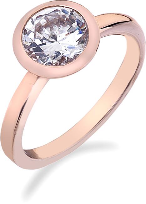 Hot Diamonds Prsteň Emozioni Riflessi Rose Gold ER004 51 mm