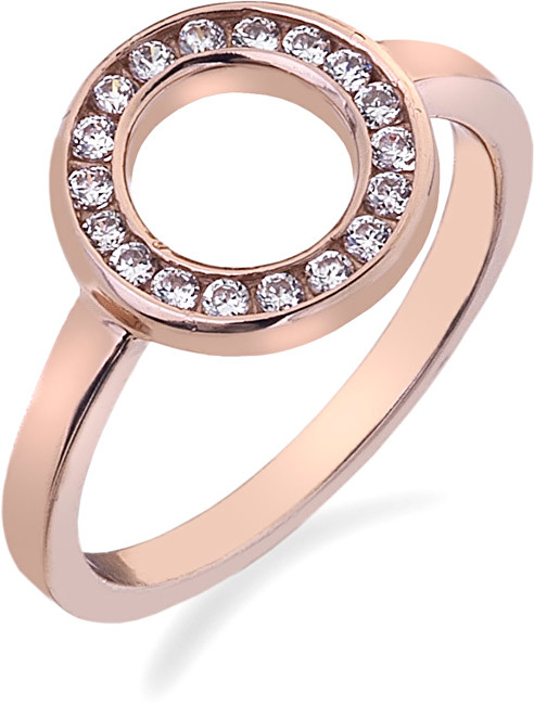 Hot Diamonds Prsteň Emozioni Saturno Rose Gold ER002 51 mm
