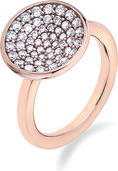 Hot Diamonds Prsteň Emozioni scintilla Rose Gold ER006 51 mm