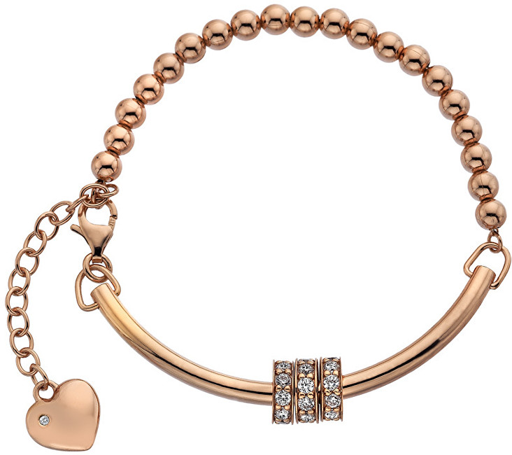 Hot Diamonds Růžově zlatý náramek se srdíčkem a diamantem Parade DL534