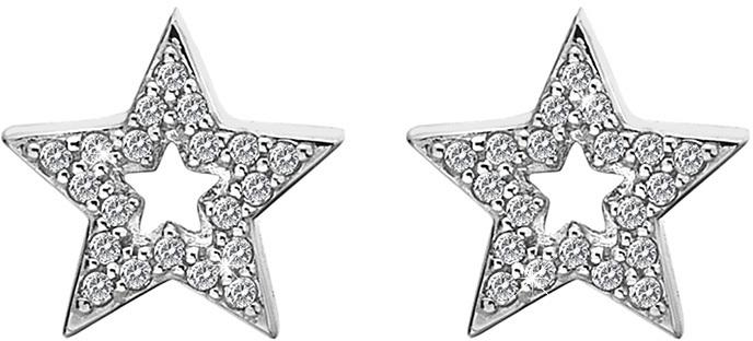 Hot Diamonds Stříbrné hvězdičkové náušnice Micro Bliss DE554