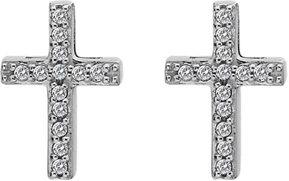 Hot Diamonds Stříbrné křížkové náušnice Micro Bliss DE552