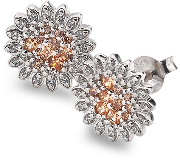 Hot Diamonds Stříbrné náušnice Emozioni Spirzzare EE032