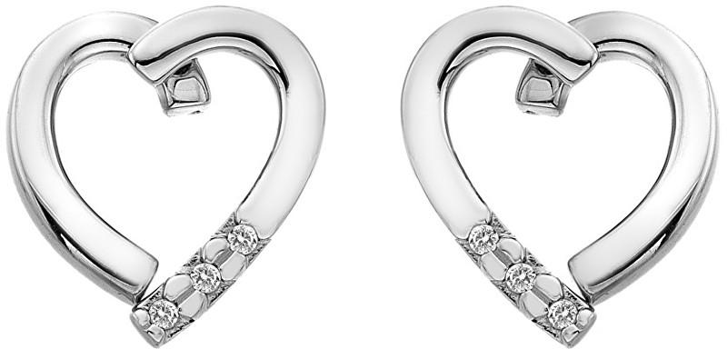 Hot Diamonds Stříbrné náušnice Glide Heart DE470