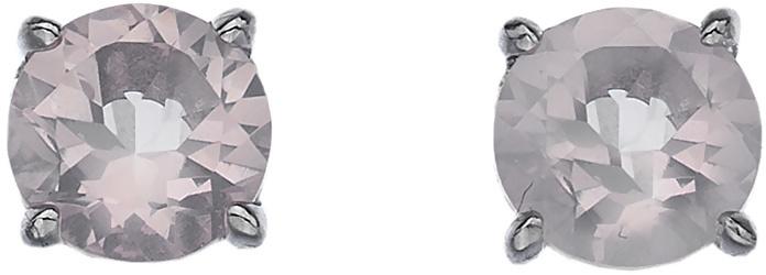 Hot Diamonds Strieborné náušnice Hot Diamonds Anais ružový kremeň AE010
