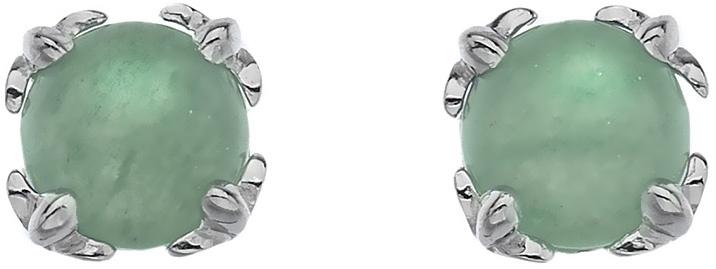 Hot Diamonds Strieborné náušnice Hot Diamonds Anais zelený Aventurín AE003