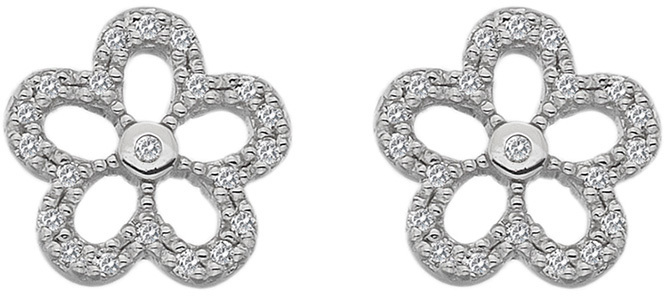 Hot Diamonds Stříbrné náušnice s pravými diamanty Daisy DE583