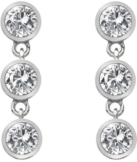 Hot Diamonds Stříbrné náušnice s topazy a pravým diamantem Willow DE585