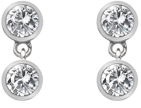 Hot Diamonds Stříbrné náušnice s topazy a pravým diamantem Willow DE586