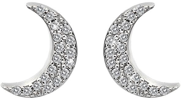Hot Diamonds Stříbrné půlměsícové náušnice Micro Bliss DE553