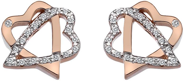 Hot Diamonds Stříbrné srdíčkové náušnice Adorable DE551