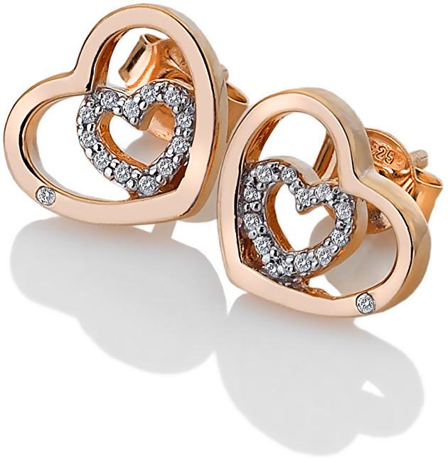 Hot Diamonds Stříbrné srdíčkové náušnice Adorable Encased DE549