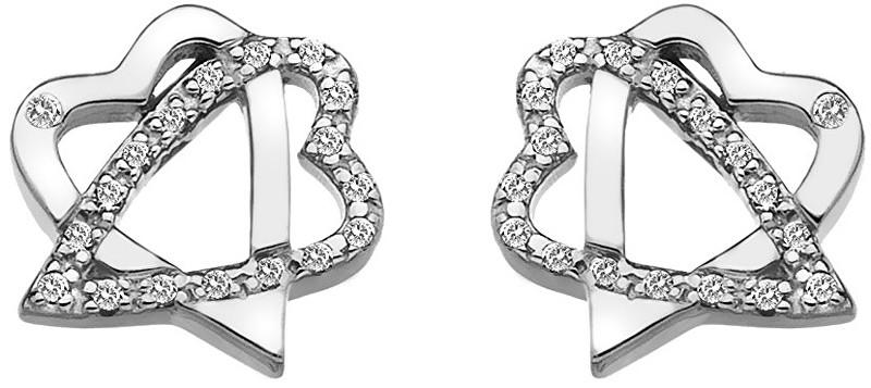 Hot Diamonds Stříbrné srdíčkové náušnice Adorable DE550