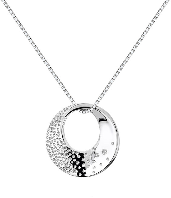 Hot Diamonds Strieborný náhrdelník s diamantom Quest DP786 (retiazka, prívesok)