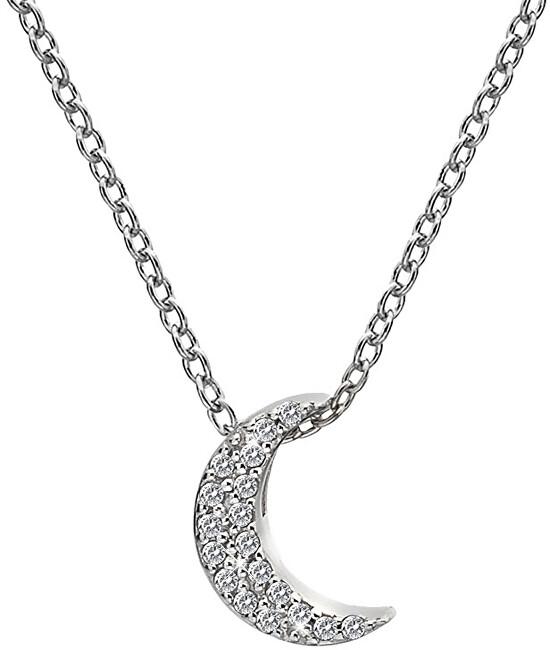 Hot Diamonds Stříbrný náhrdelník s půlměsícem Micro Bliss DP698 (řetízek, přívěsek)