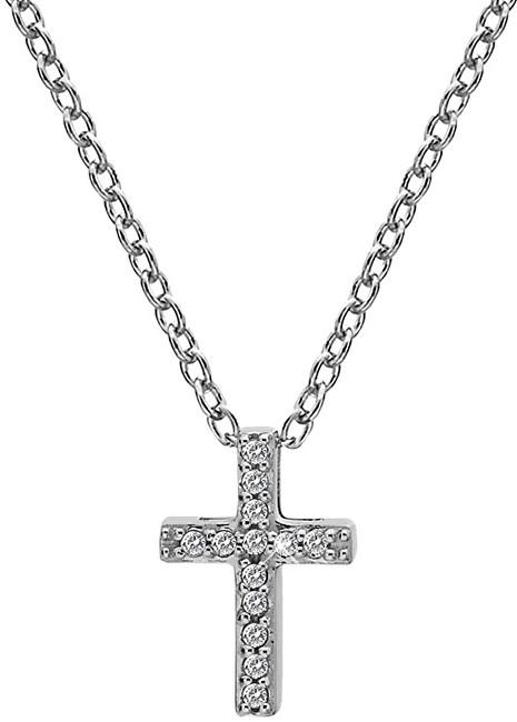 Hot Diamonds Strieborný náhrdelník s krížikom Micro Bliss DP696 (retiazka, prívesok)