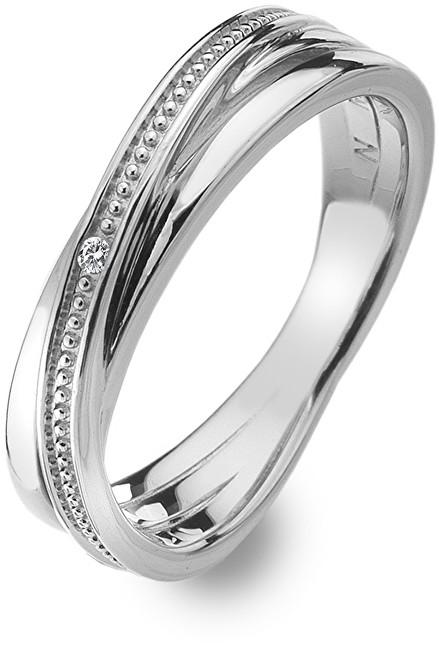 Hot Diamonds Stříbrný prsten s diamantem Chandelier Vintage DR179 51 mm