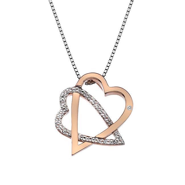 Hot Diamonds Stříbrný srdíčkový náhrdelník Adorable DP694