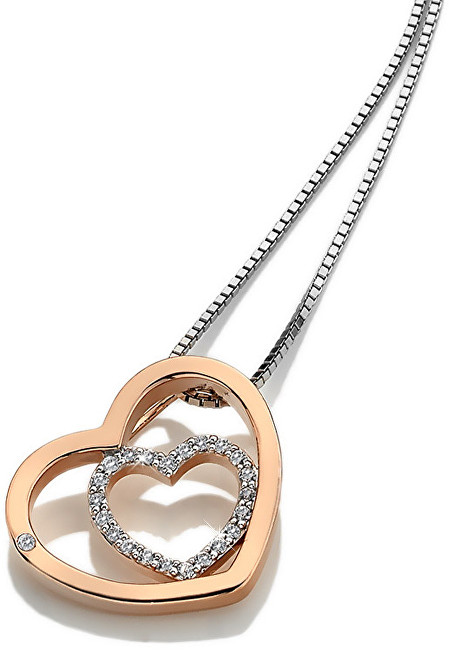 Hot Diamonds Stříbrný srdíčkový náhrdelník Adorable Encased DP692