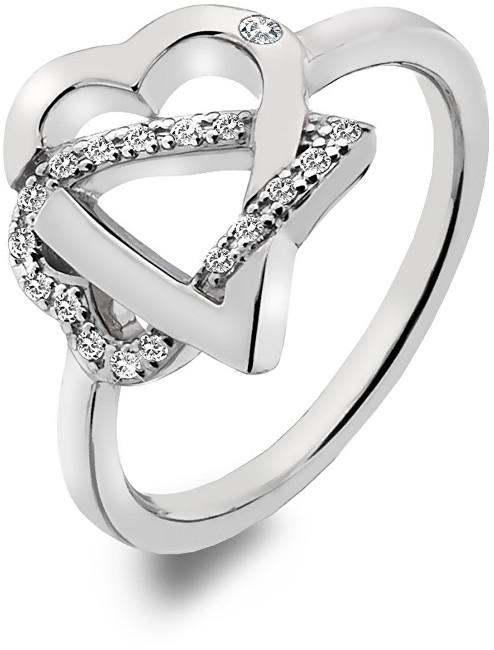 Hot Diamonds Stříbrný srdíčkový prsten Adorable DR203 51 mm