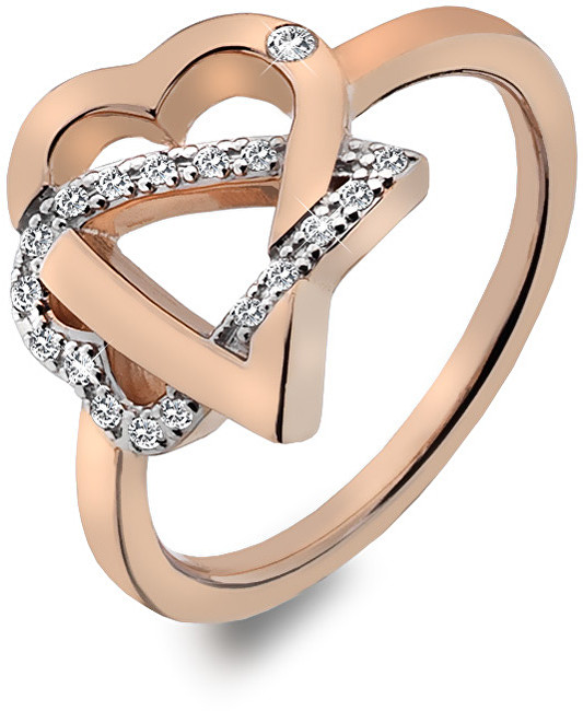 Hot Diamonds Stříbrný srdíčkový prsten Adorable DR204 51 mm