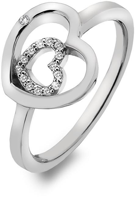 Hot Diamonds Stříbrný srdíčkový prsten Adorable Encased DR201 51 mm