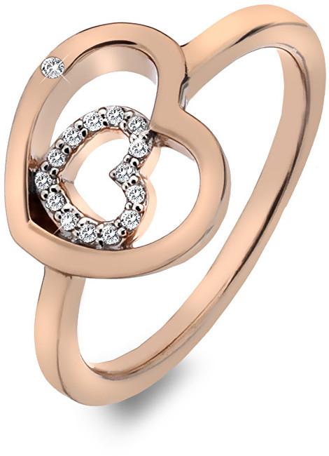 Hot Diamonds Stříbrný srdíčkový prsten Adorable Encased DR202 51 mm