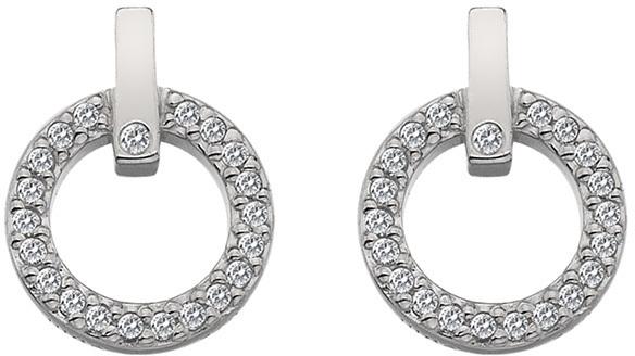 Hot Diamonds Třpytivé náušnice s pravým diamantem Flora DE580