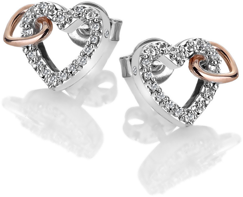 Hot Diamonds Třpytivé náušnice s pravým diamantem Flora DE606