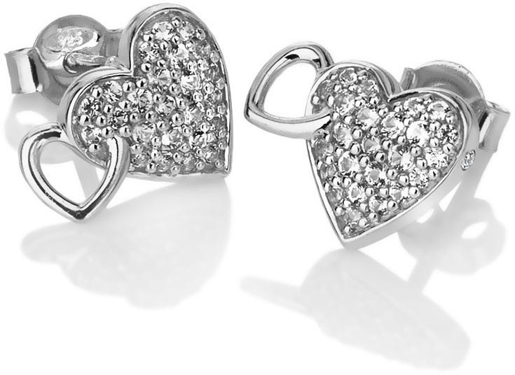 Hot Diamonds Třpytivé náušnice s pravým diamantem Flora DE607