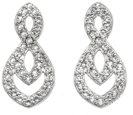 Hot Diamonds Třpytivé náušnice s pravým diamantem Lily DE609