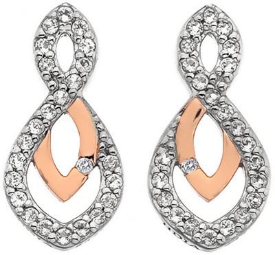 Hot Diamonds Třpytivé náušnice s pravým diamantem Lily RG DE608