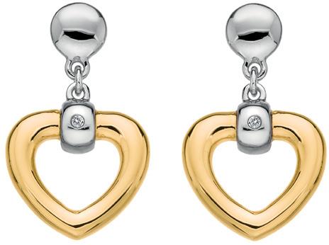 Hot Diamonds Zamilované náušnice s diamanty Just Add Love DE400