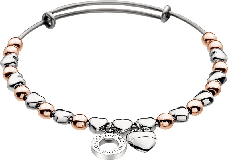 Hot Diamonds Oceľový náramok Emozioni Rose Gold and Silver Plate DC096