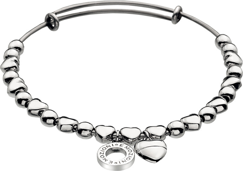 Hot Diamonds Oceľový náramok Emozioni Silver Heart Bangle DC094