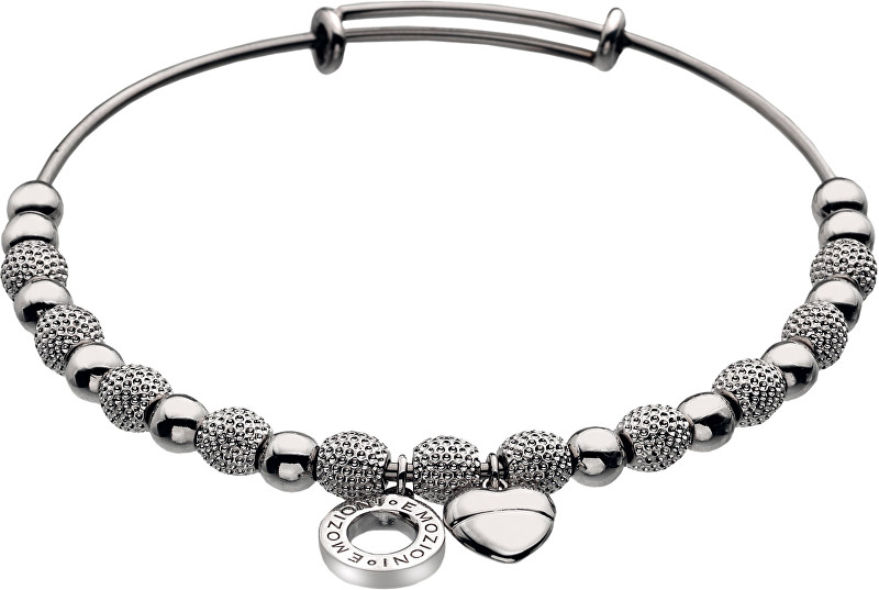 Hot Diamonds Oceľový náramok Emozioni Silver Ula Bangle DC097