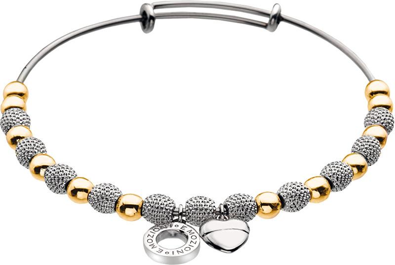 Fotografie Hot Diamonds Ocelový náramek Emozioni Yellow Gold and Silver Ula DC099