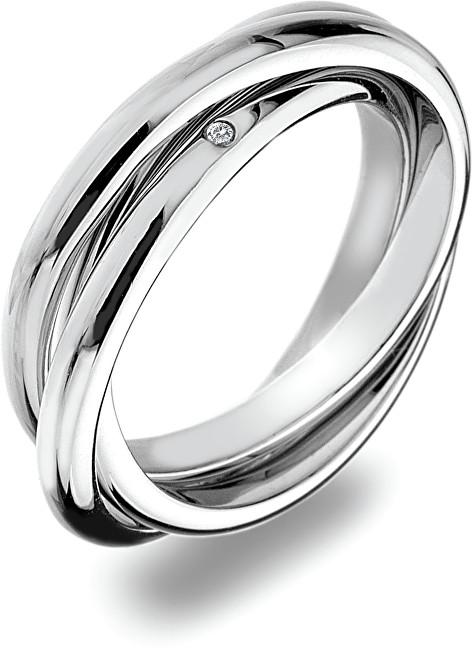 Hot Diamonds Stříbrný prsten Trio DR143 51 mm