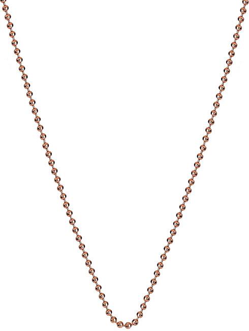 Hot Diamonds Stříbrný řetízek Emozioni Rose Gold Bead Chain 35 CH009